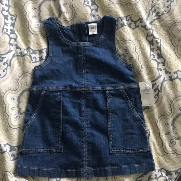 GAP Other - Baby gap jean overall dress - 12-18m - NWT